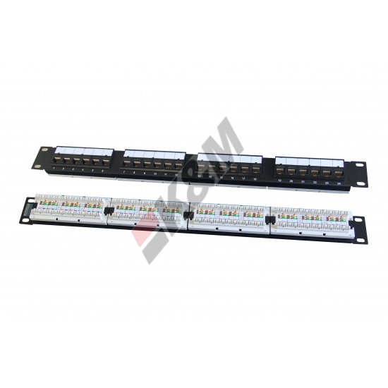 1U 24 ports UTP CAT5E Patch Panel