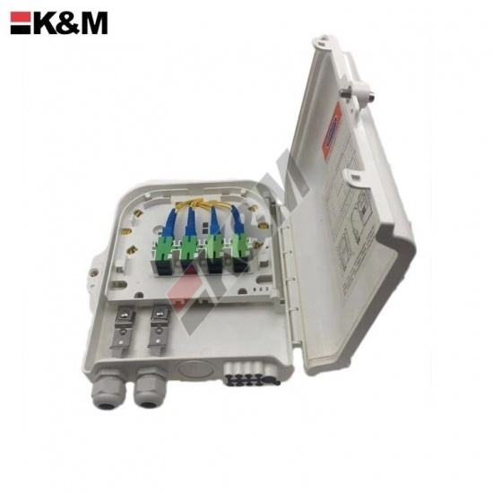 Fiber optic termination box 8Ports SC SX